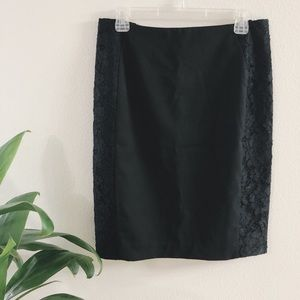 H&M Pencil Skirt Black with Lace